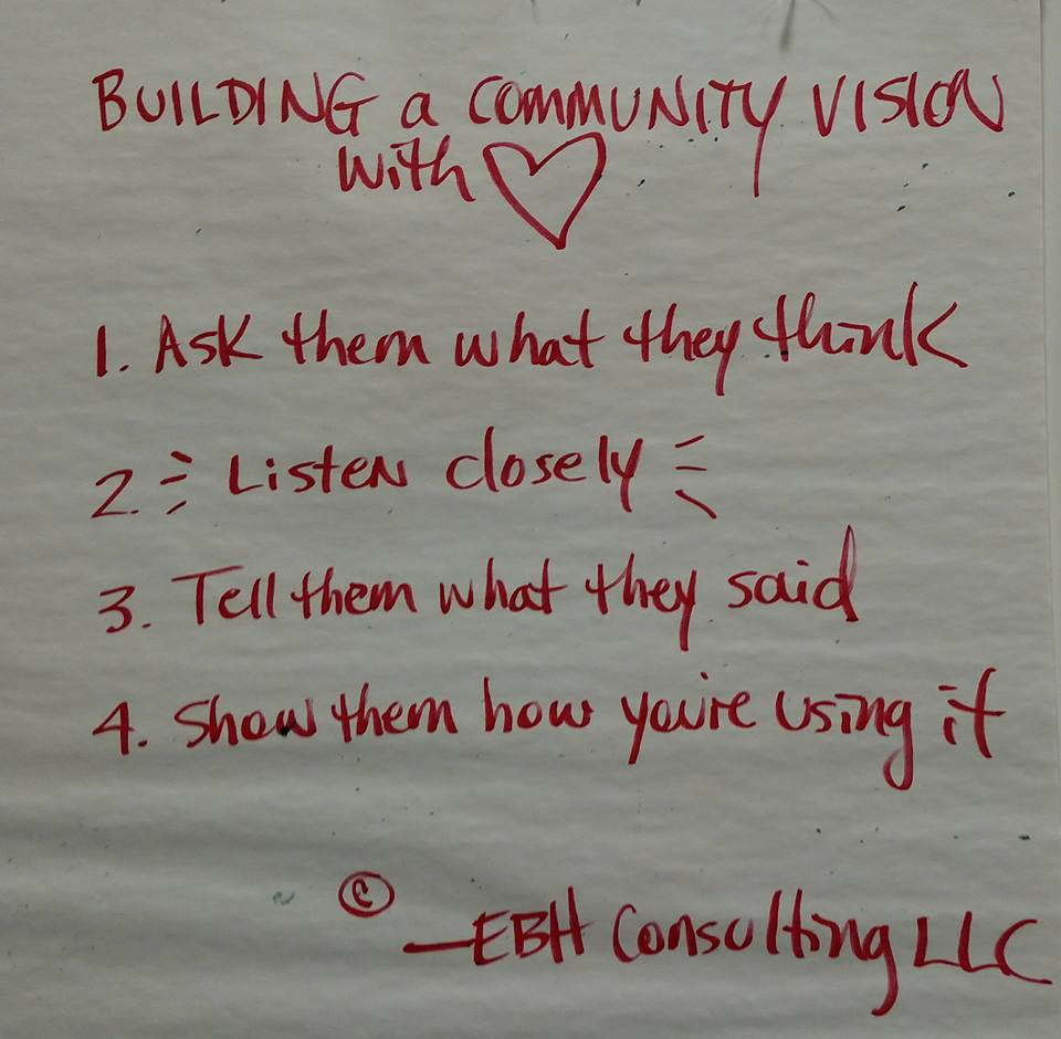 Building community vision with heart