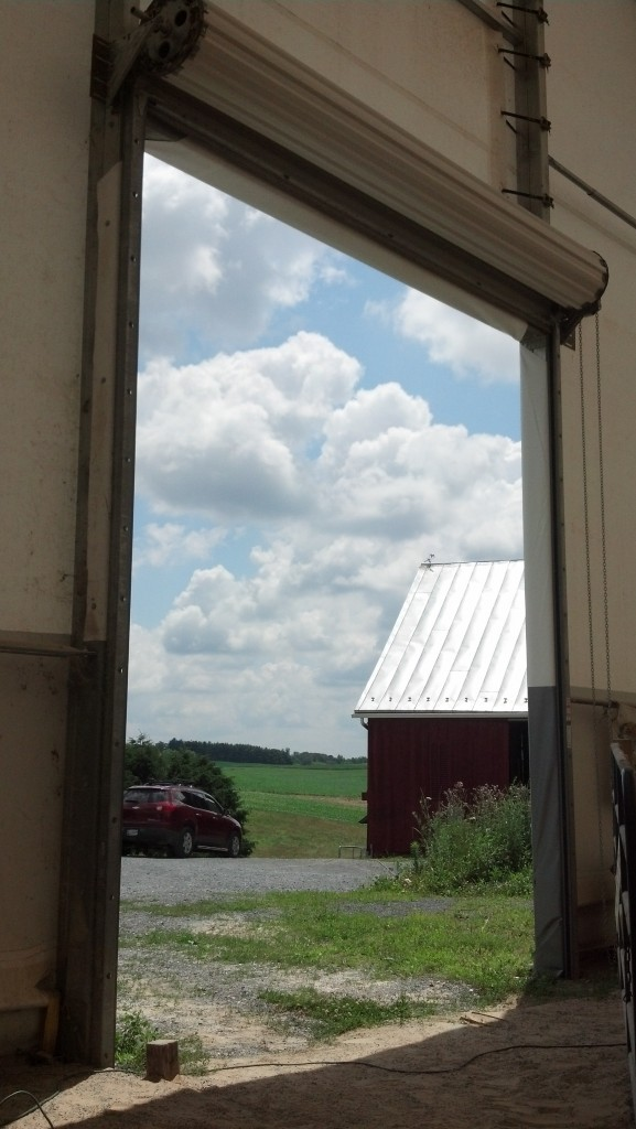 Equus Coaching gives you a unique window on your truth and your world.View from the indoor arena at Four Quarters Farm.