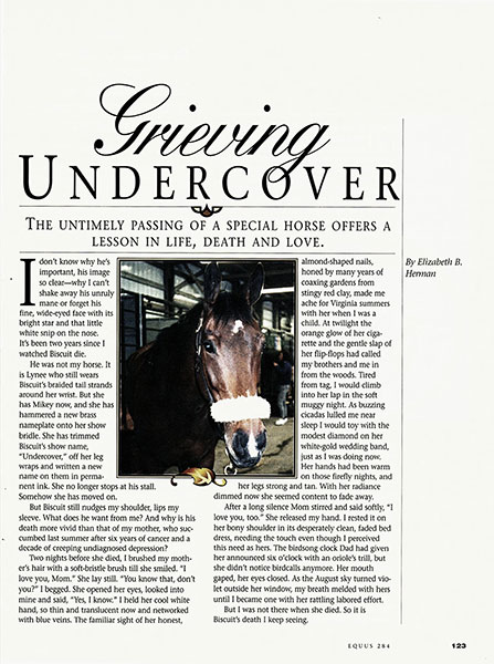Grieving-undercover